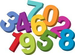 numbers clipart - Numbers Clipart