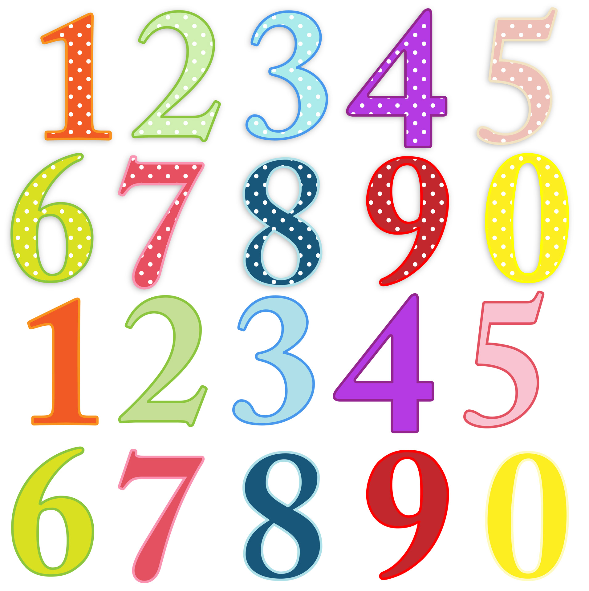 Numbers Colorful Clip-art - Numbers Clipart