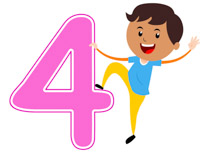 Playful Boy Standing With Num - Numbers Clipart
