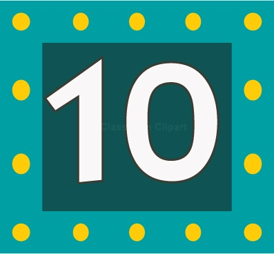 Numbers Number 10c Classroom Clipart