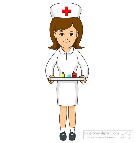 Nurse clip art black and white .