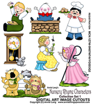 Nursery Rhyme Characters .