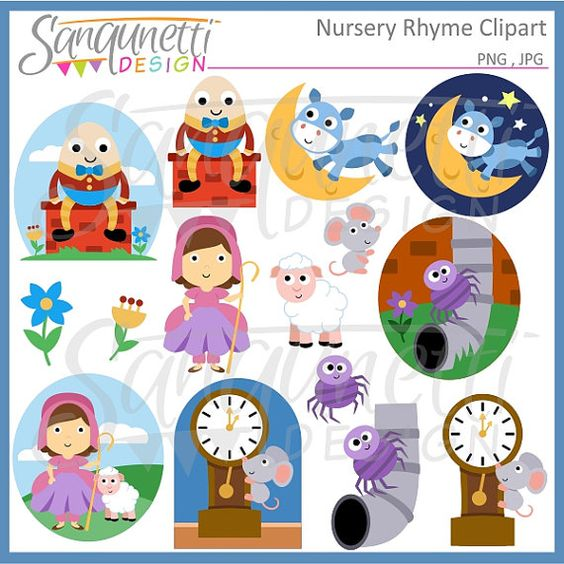 Nursery Rhyme Clipart Storybook Clipart -Nursery Rhyme Clipart storybook clipart by SanqunettiDesigns-16
