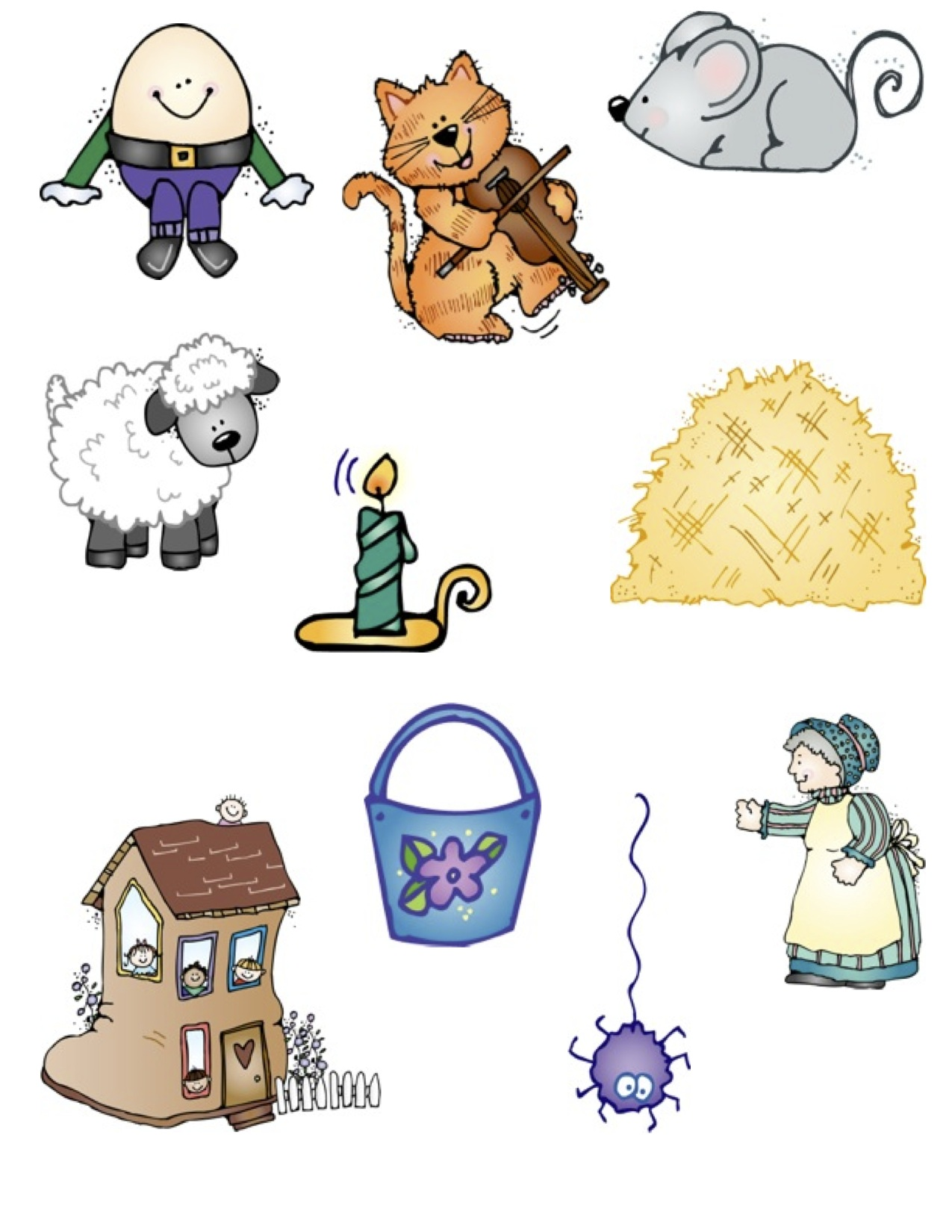 Nursery Rhymes Clip Art More .-Nursery Rhymes Clip Art More .-5