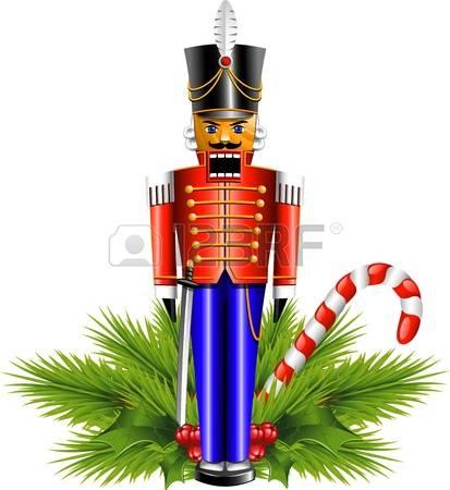 Nutcracker: Nutcracker And A Christmas D-nutcracker: Nutcracker and a Christmas decoration. Illustration-14