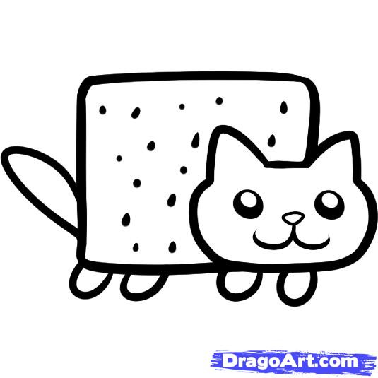 pop tart coloring pages nyan cat coloring pages best of pop tart clipart  nyan cat pencil