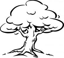 Oak tree vector clip art free - Free Black And White Clip Art