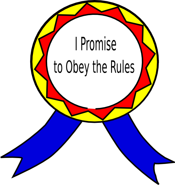 Obey The Rules Badge Clip Art At Clker Com Vector Clip Art Online