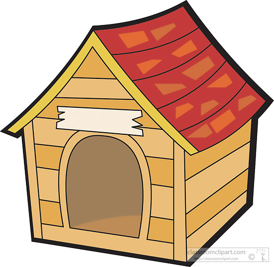 Objects Dog House 2 Classroom Clipart