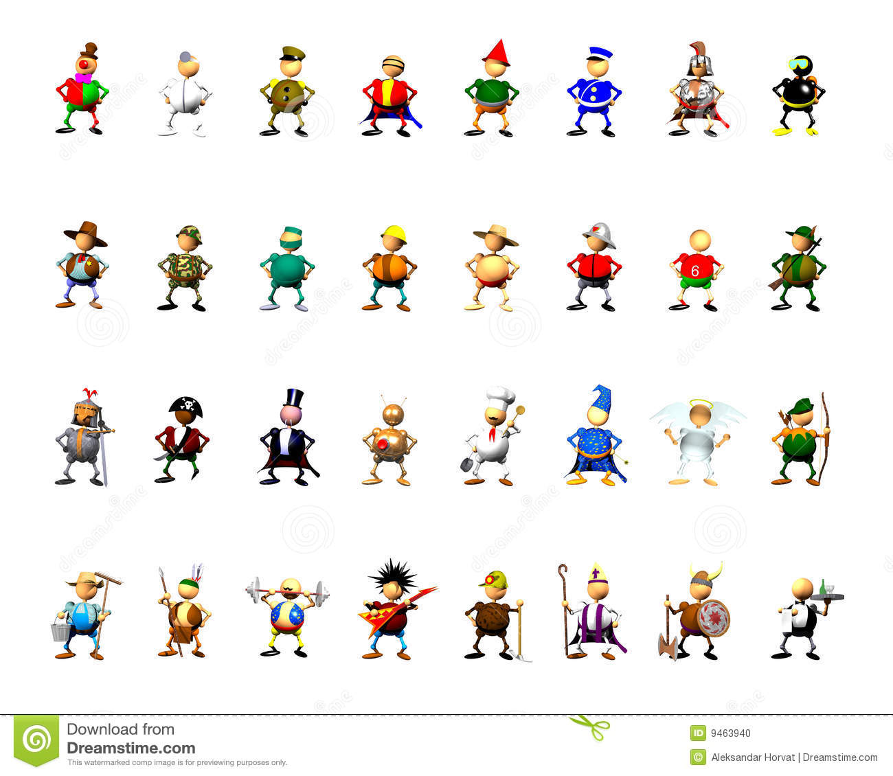 Occupations Clipart Character Collection Clipart