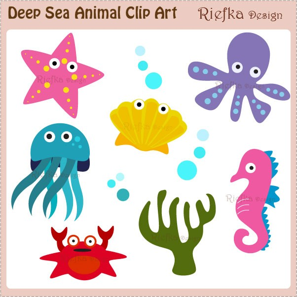 ocean animal clip art Gallery