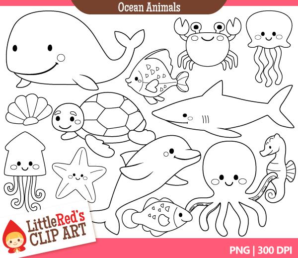 Ocean Clip Art Black and White-Ocean Clip Art Black and White-11