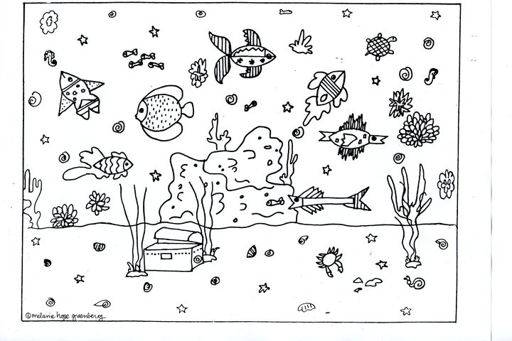Ocean Clipart Black And White-Ocean Clipart Black And White-9