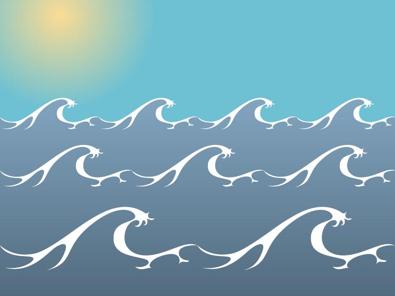 Ocean/ Sea Waves Vector-Ocean/ Sea Waves Vector-7