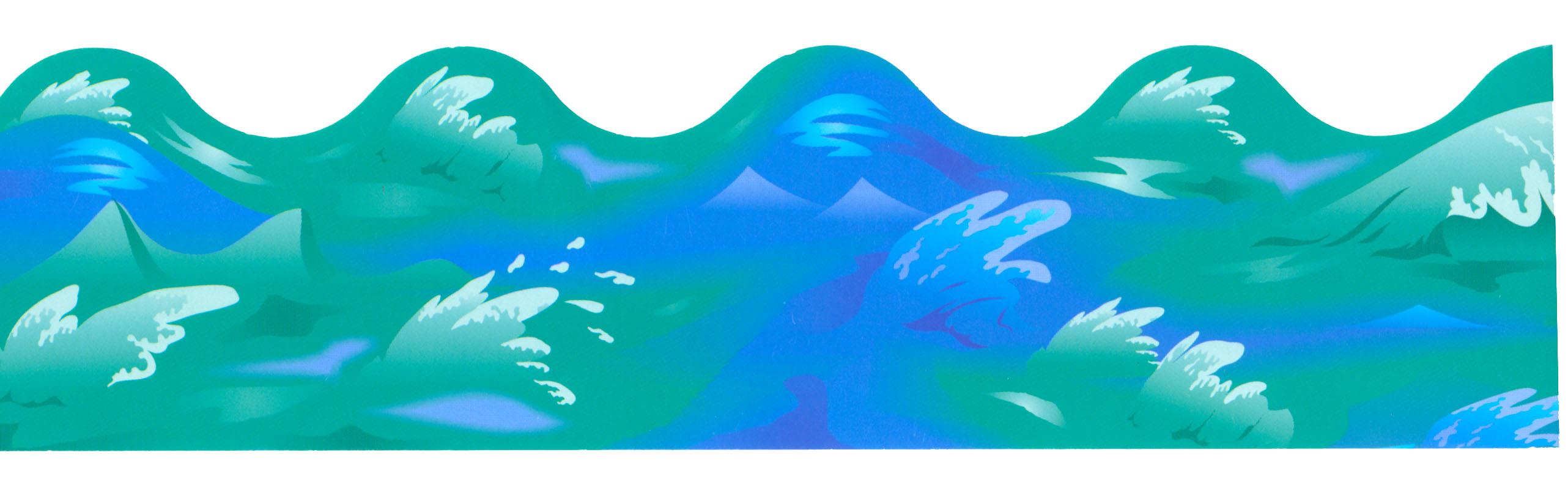 Ocean Waves Border - Clipart Library-Ocean Waves Border - Clipart library-2