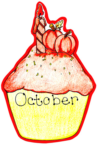 October Birthday Clipart October Birthda-October Birthday Clipart October Birthday Cupcake-13