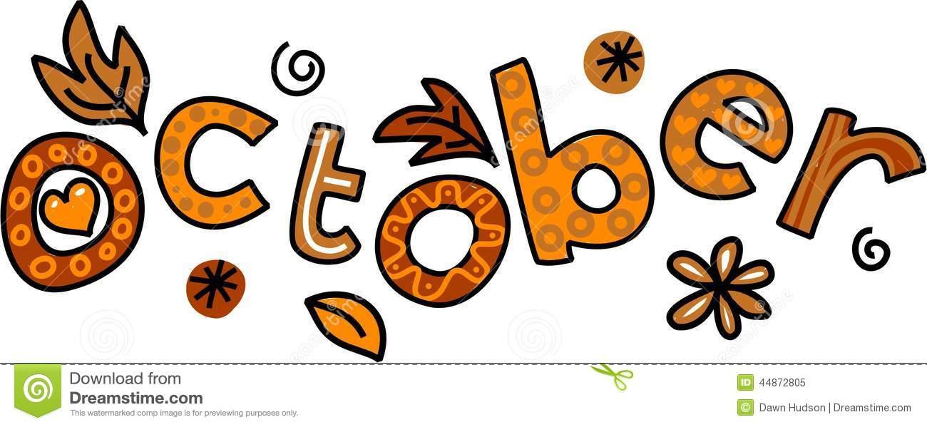 October Clip Art Stock Illustration Image 44872805