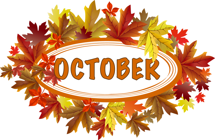 October clip art free free cl