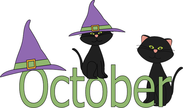 October Month Black Cat