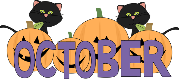 October Pumpkins and Black Cats