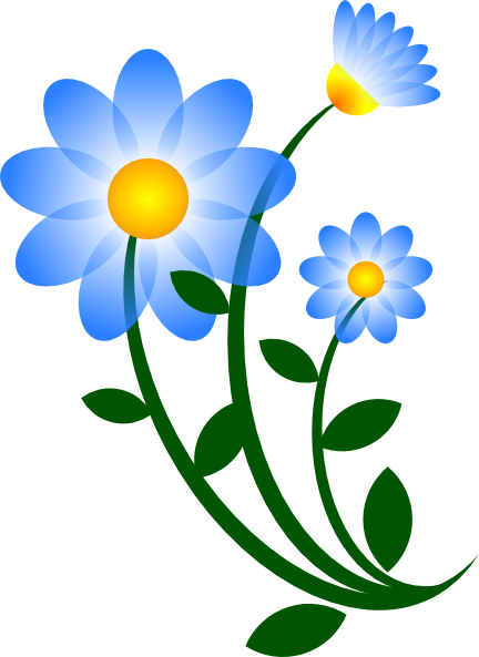 Of blue flowers clip art free clipart images