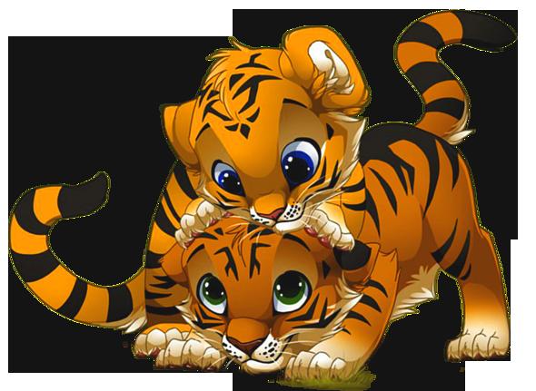 Of Cartoon Tigers Clipart