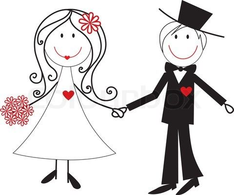 Of Cartoon Wedding Couple .-of cartoon wedding couple .-14