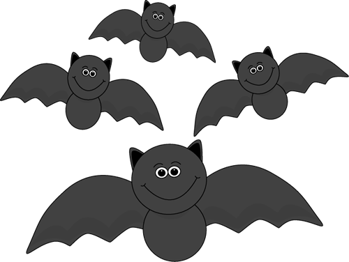Of Flying Bats Clip Art Image Group Of Cute Black Bats With Cute