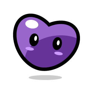 of Heart Clipart - Purple .