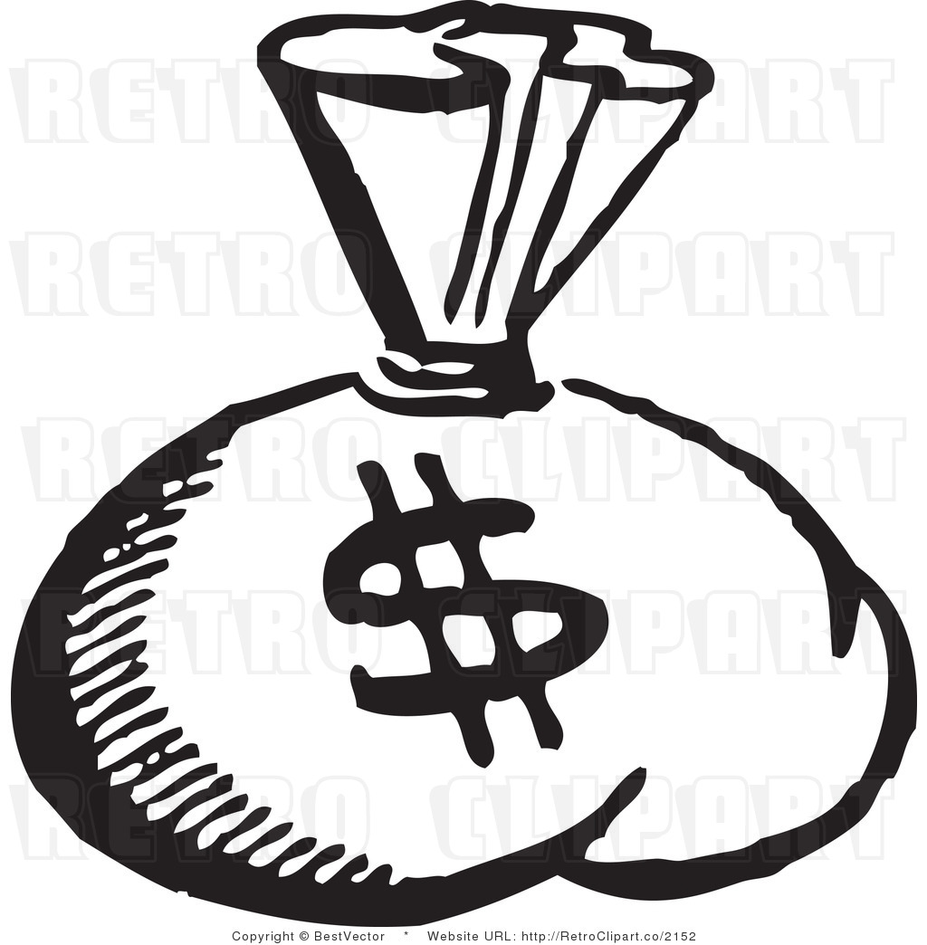 Of Money Clipart Black And Wh - Money Clipart Black And White