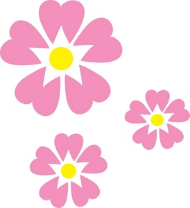 Of Pink Flowers Clipart Illus - Pink Flowers Clipart