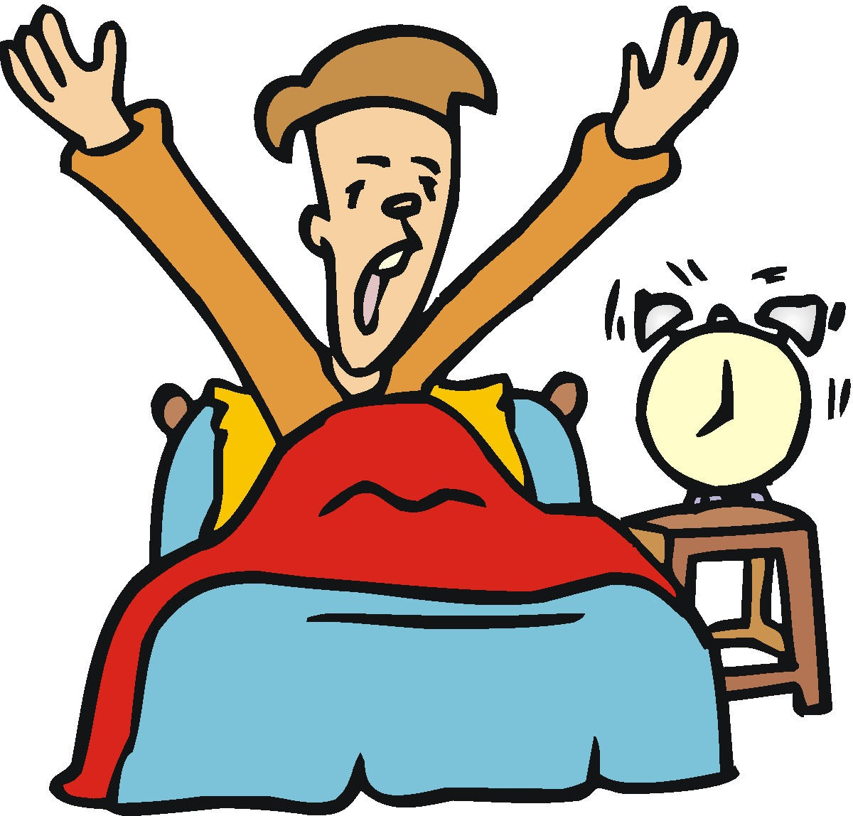 Funny Wake Up Clipart