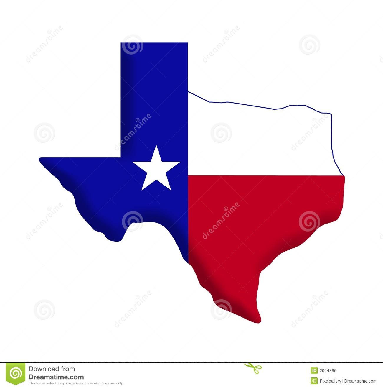 Texas outline red. Flag clip art