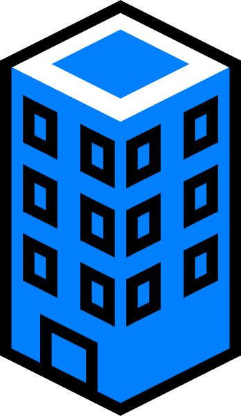 Office Building Blue Clip Art