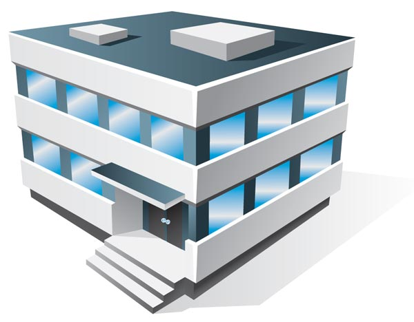 Office Building Clipart 3d 3d Houses And Office Buildings
