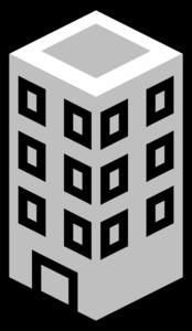Office Building Gray Clip Art