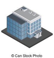 ... Office building isometric - Business modern 3d urban office.