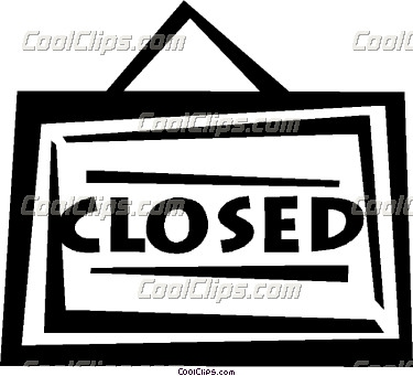 Office Closed Sign Clip Art