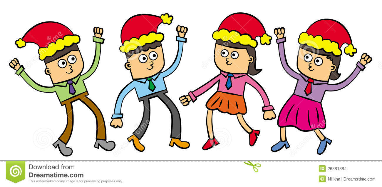 Office Party Clipart Office Christmas Party Stock
