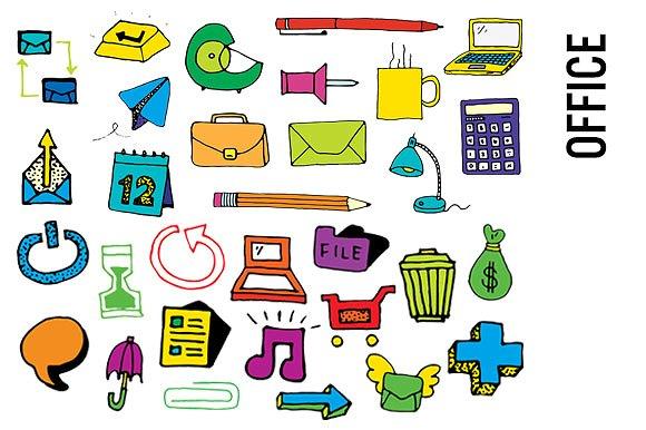 Office Supplies Clip Art-Hi Res ...