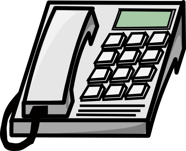 Office telephone clipart black and white-Office telephone clipart black and white-11