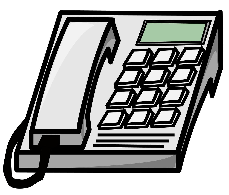 Office Telephone Clipart Black .-Office Telephone Clipart Black .-15