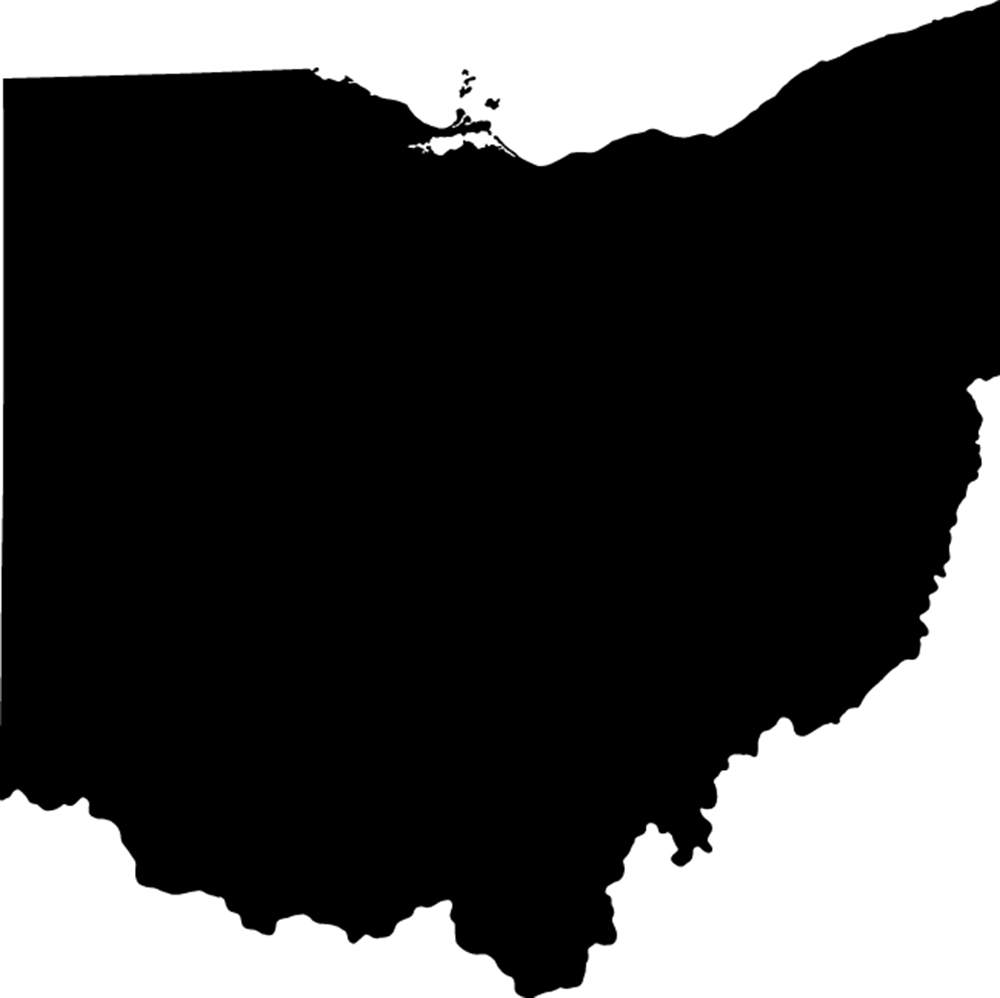 Ohio State Physical Map - Ohio Clip Art