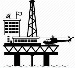 Oil Platform - Oil Rig Clipart