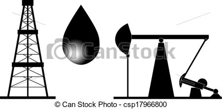 Oil Rig Black And White Illustration-Oil Rig Black And White Illustration-6