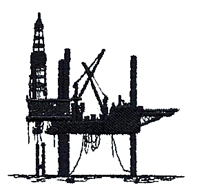 Oil Rig Cartoon Design .