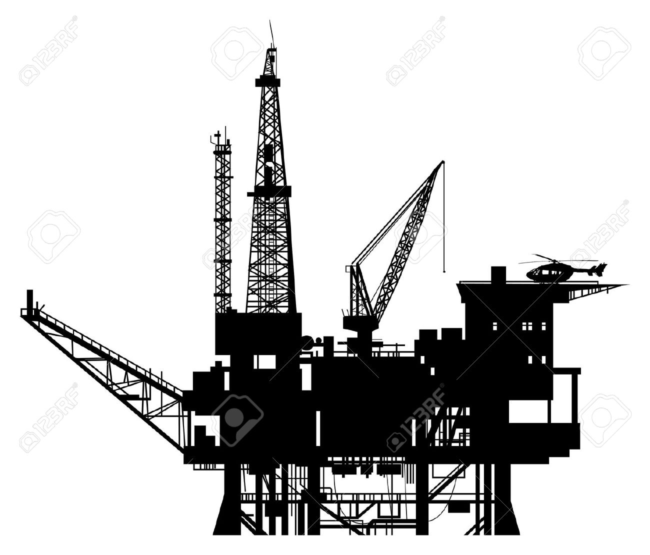 oil rig: Oil drilling rig . - Oil Rig Clipart