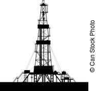 Oil rig silhouettes Clip Art Vectorby Kotkoa33/1,156; Oil rig silhouette isolated on white background. - Oil rig.
