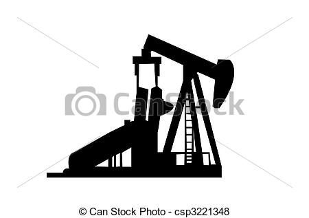 Oil Well Clipartby cteconsulting1/213; Oil Well Silhouette isolated on a white background.