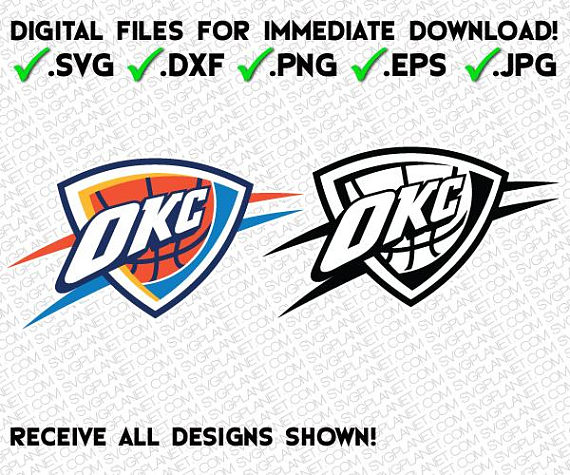 OKLAHOMA CITY THUNDER svg logo 5 file fo-OKLAHOMA CITY THUNDER svg logo 5 file formats (svg, dxf, png, eps, jpg)  download instantly! image vector clipart files for cricut silhouette-12